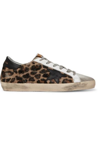 Leopard print sneakers, Calf hair