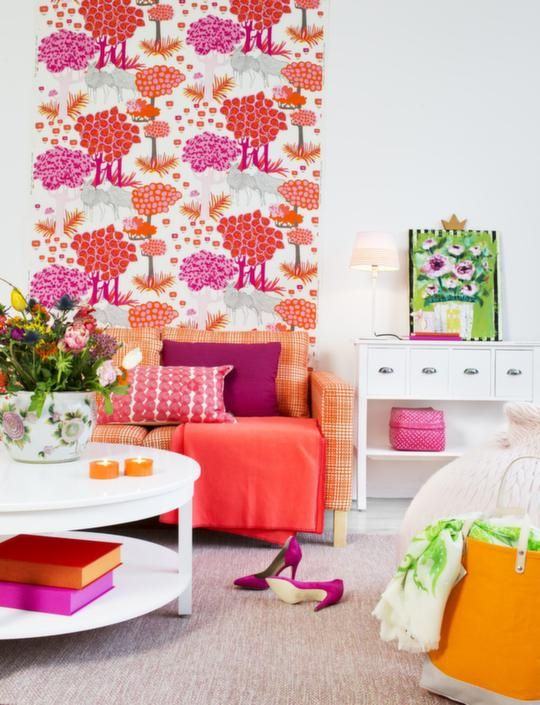 Amazing pink and orange interior design (by Ikea) I am gonna get ...