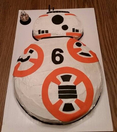 Bb8 Cake With Images Star Wars Birthday Cake Star Wars