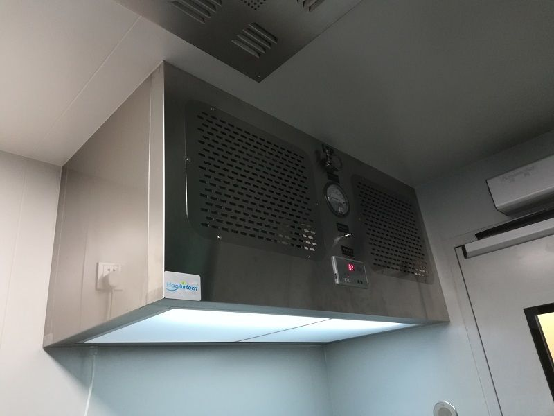 Iso5 stainless steel laminar air flow hood for biology