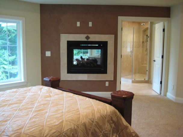 Fireplace Shared Between Master Bedroom And Bath In My