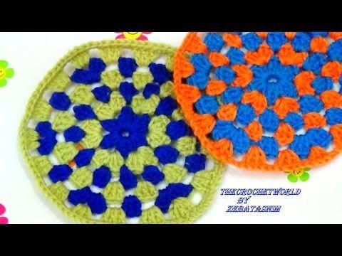 How To Make A Crochet Granny Circle Youtube Crochet Pinterest