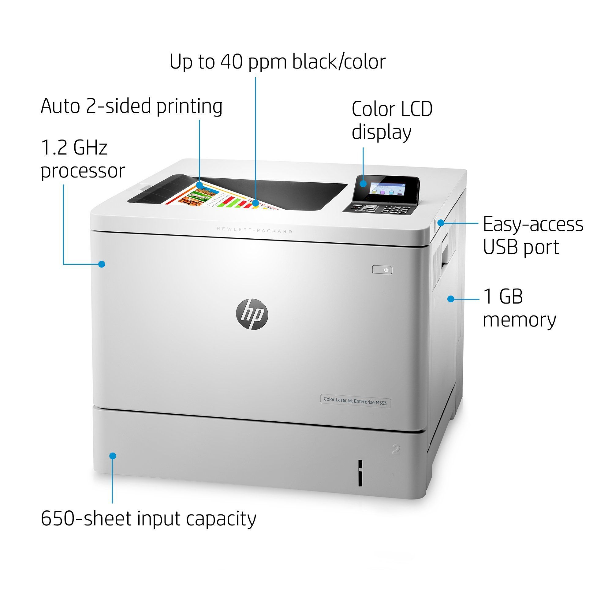 Hp Color B5l25a Bgj Laserjet Enterprise M553dn With Hp Futuresmart Firmware Certified Refurbished See This Great Product Affil Firmware Printer Laser Printer