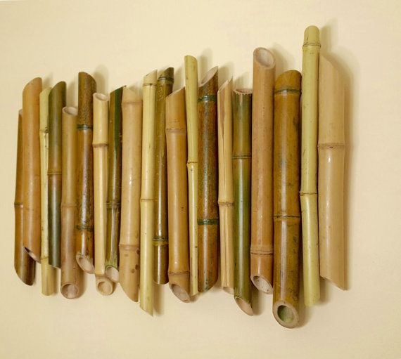 Bamboo Wall Decoration Branch Art Living Picture Handmade Item