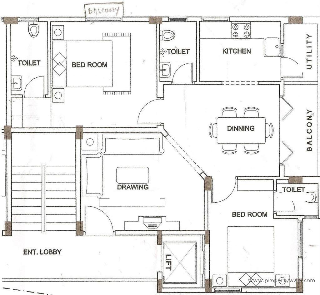 Gulmohar City Kharar Mohali Chandigarh Home Plan Floor
