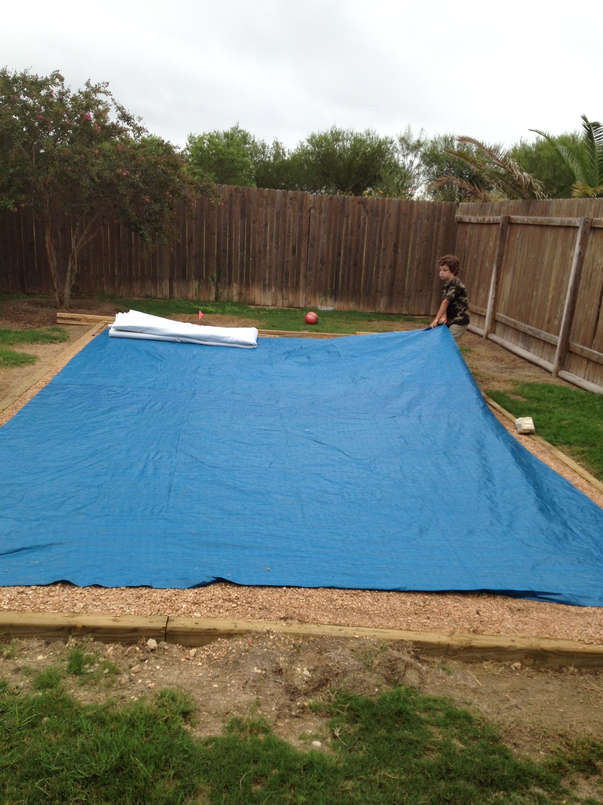 Level The Ground By Framing 4x4 And Put 5 Yards Of Dg In The Frame Worked Well After Pool Install Pool Installation Rectangle Pool Intex Above Ground Pools