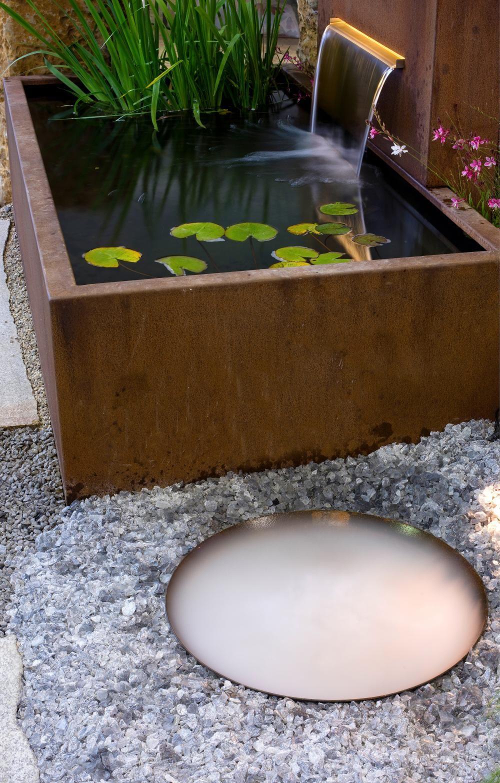 Gartengestaltung Mit Cortenstahl Wasserbecken Garten Wasser Im Garten Gartengestaltung