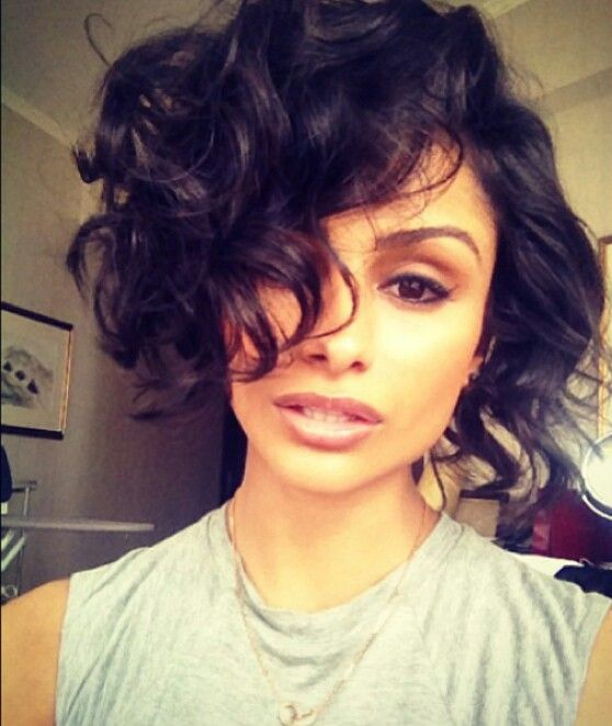Nazanin Mandi Curly Bob Short Hair Styles Black Hair Curls Hair Styles