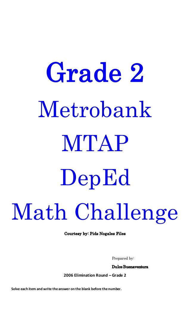 mtap problem solving for grade 2