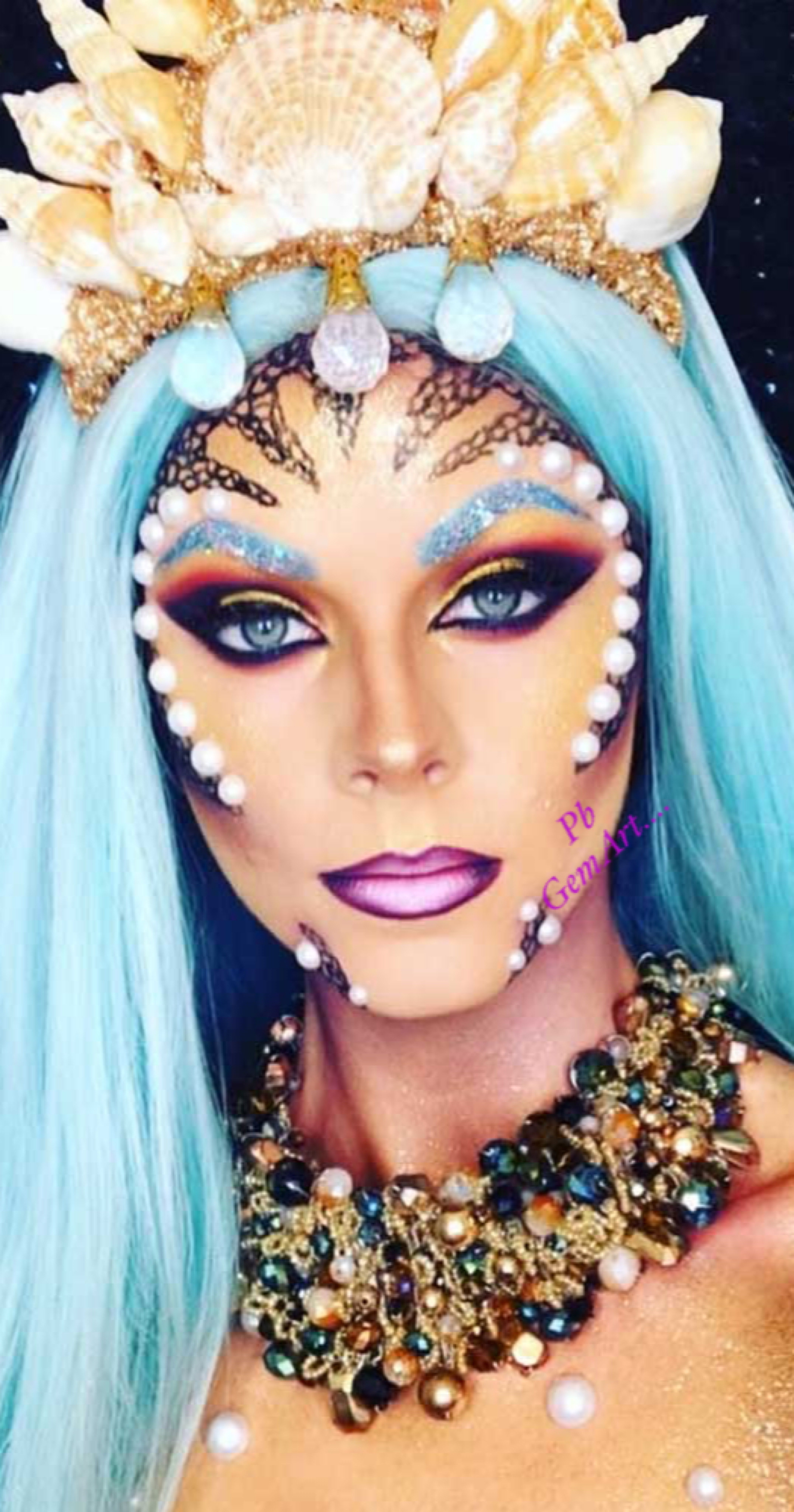 Mermaid Halloween Makeup - The Xerxes