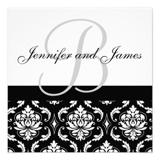 ReviewWedding Invitation Monogram Names Black Damaskyou will get - best of invitation name designs