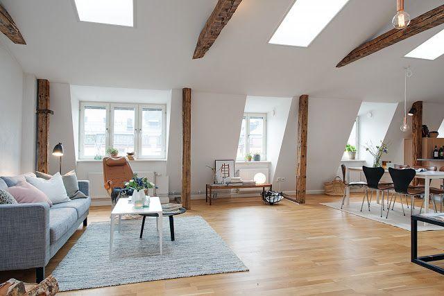 Lovely Deco Un petit appartement sous les toits lovely wood