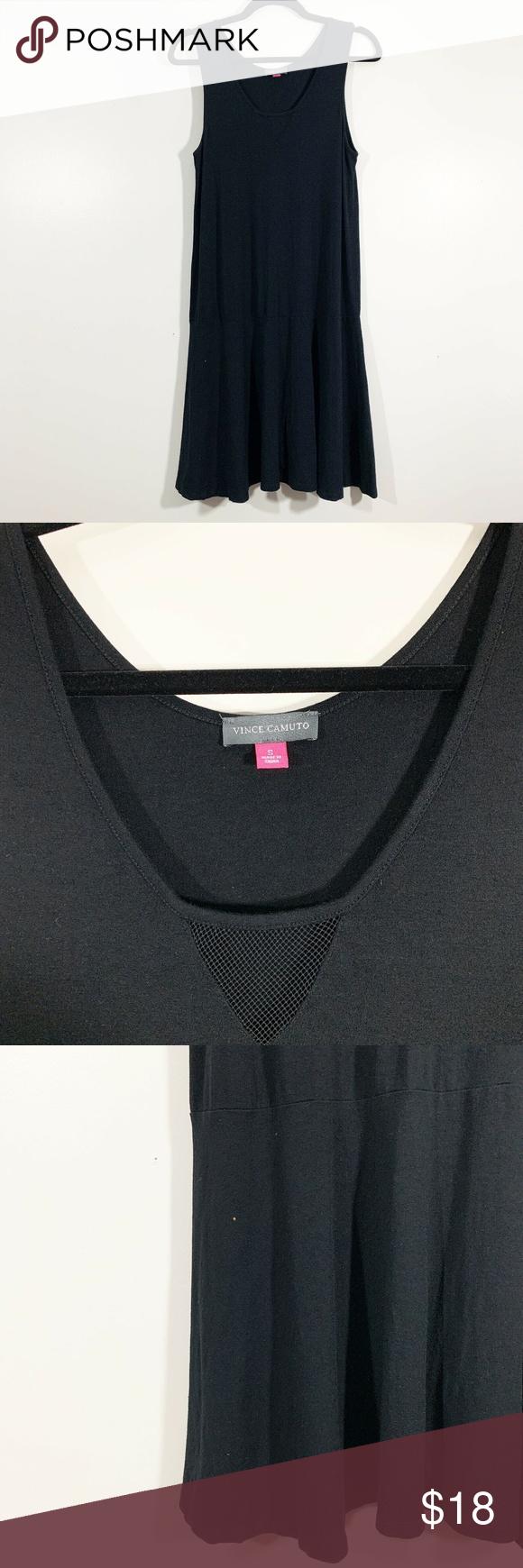 Vince Camuto Black Sleeveless Knit Shift Dress S Knit Shift Dress Shift Dress Black Sleeveless [ 1740 x 580 Pixel ]