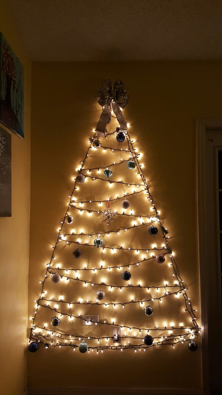Twinkle Lights Christmas Tree Lighted Wall Christmas Tree Unconventional Christmas Wall Christmas Tree Wall Mounted Christmas Tree Easy Christmas Decorations