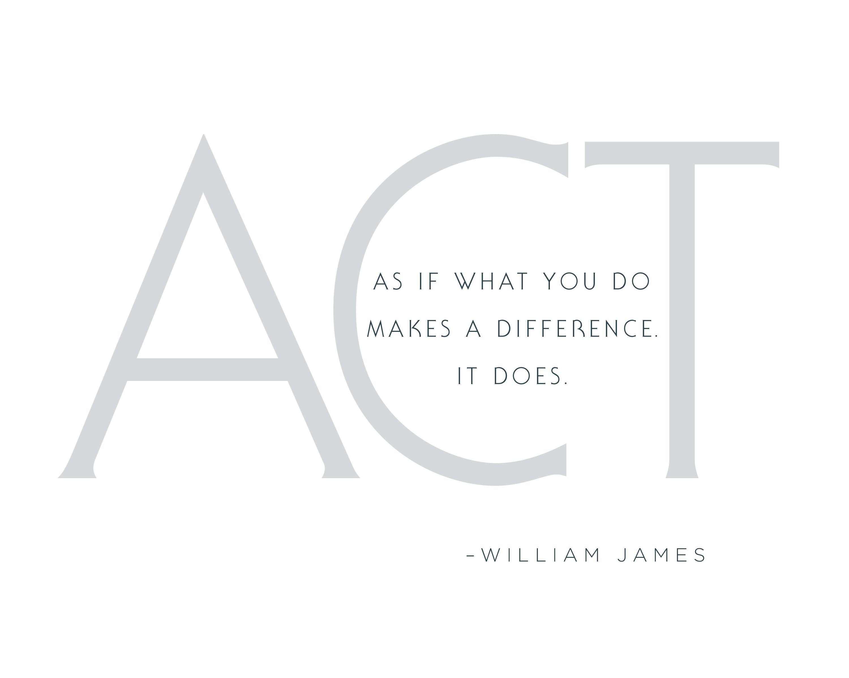William James quote.