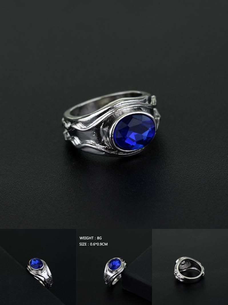 Elf Lord Elrond Silver Tone Ring LOTR The Lord of the Rings Ring