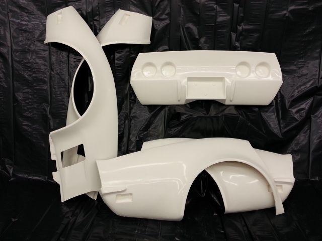 1974-1979 corvette chrome bumper conversion kit - 2