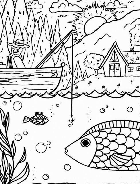 Printable Summertime Coloring Sheet   coloring   Pinterest   Ideas ...
