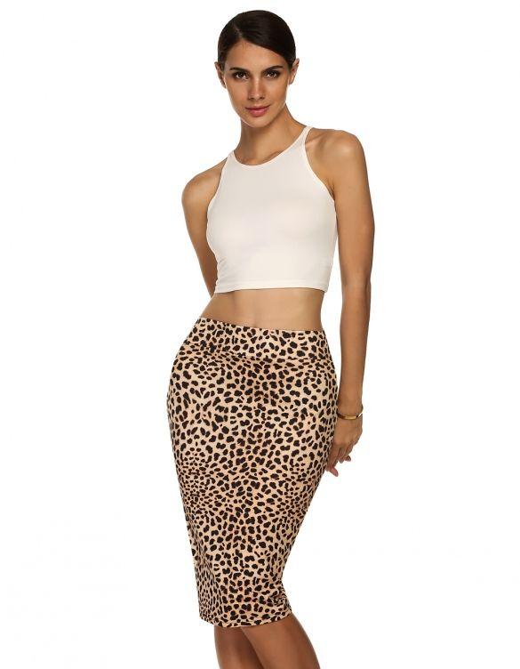 ACEVOG Women Fashion Casual Business Slim Bodycon Sexy Elegant Pencil Skirt