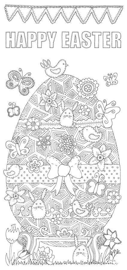 Personalised Colour In Easter Poster Easter Poster Easter Colors Easter Coloring Pages
