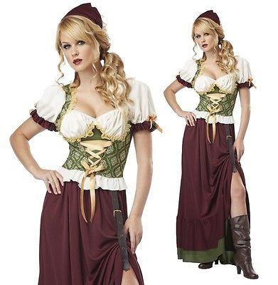 Renaissance Costumes Adult Medieval Peasant Tavern Wench Fancy Dress
