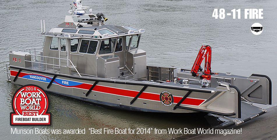 Fire Boat Manufacturers Rescue Boats Munson Aluminum