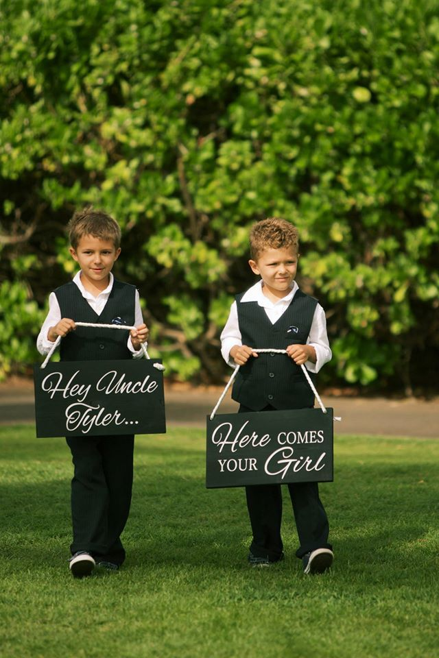 Ring bearer signs Bliss Wedding Design Spectacular Events Anna