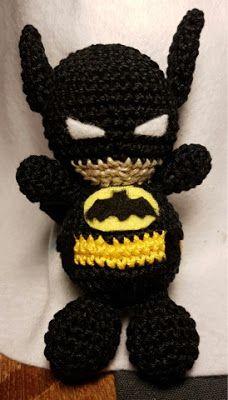 Amigurumi Batman Link To Pattern Anleitung Häkeln Pinterest
