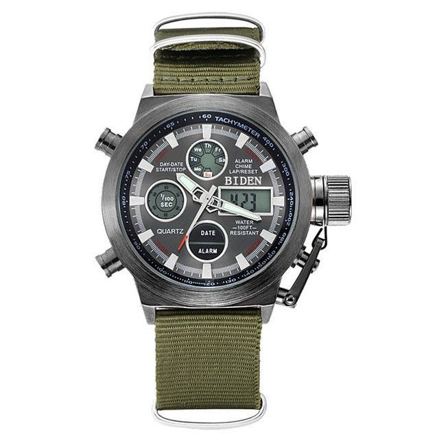 e9d22d21c34 Reloj Hombre 2016 Watches men luxury brand Sport dive 50m LED Military  watches Genuine quartz mens