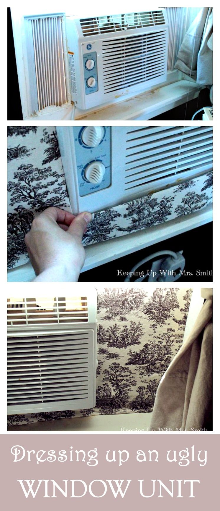 Dressing Up A Window Unit Window unit, Windows, Cool diy