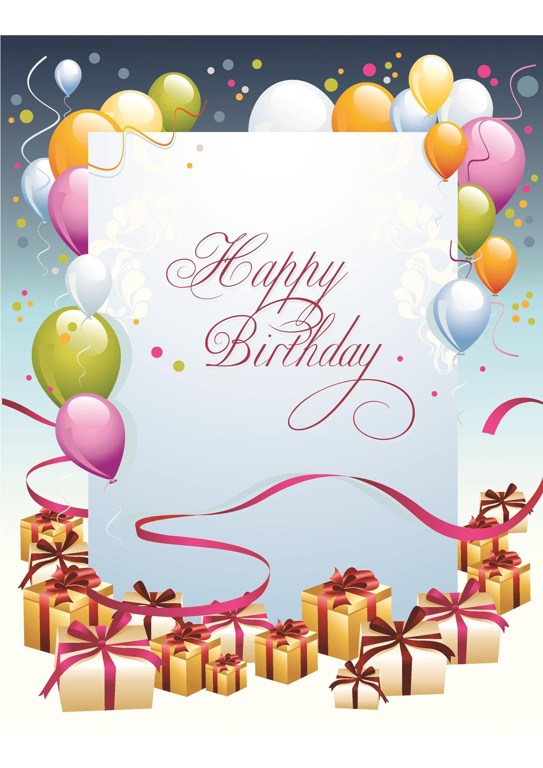 Free Downloadable Postcard Templates Creative Professional Template Ideas Free Birthday Card Download Birthday Cards Birthday Card Template Free