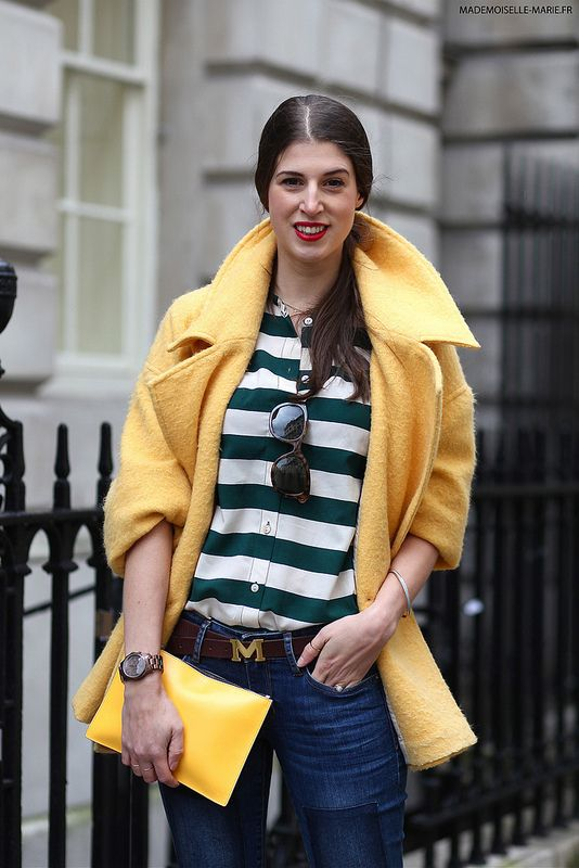 yellow collar pop. #WendyHGilmour in London. #thankfifi
