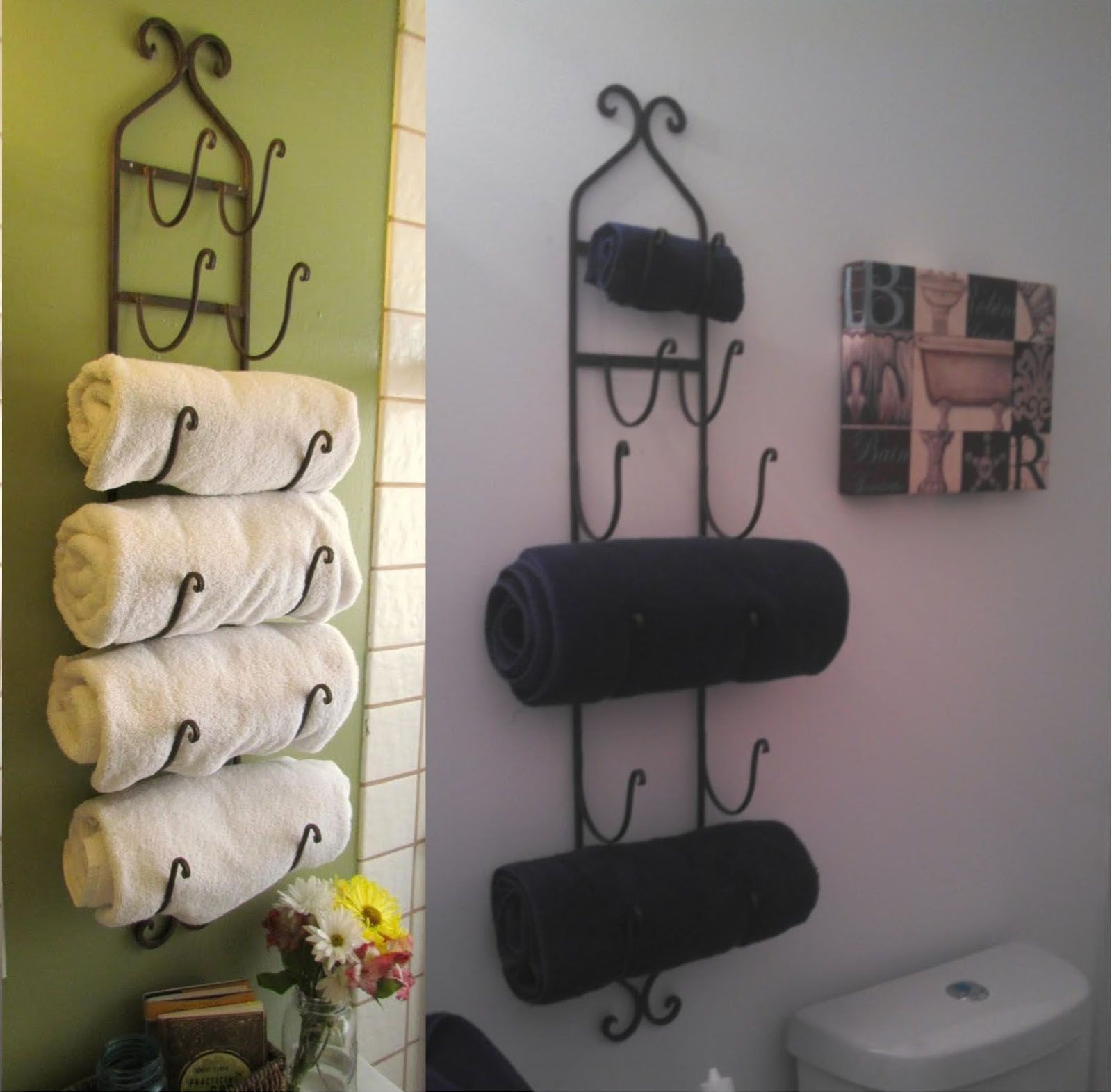 Towel Storage Ideas For A Small Bathroom Home Decorating Ideas - Towel rails for small bathrooms for small bathroom ideas