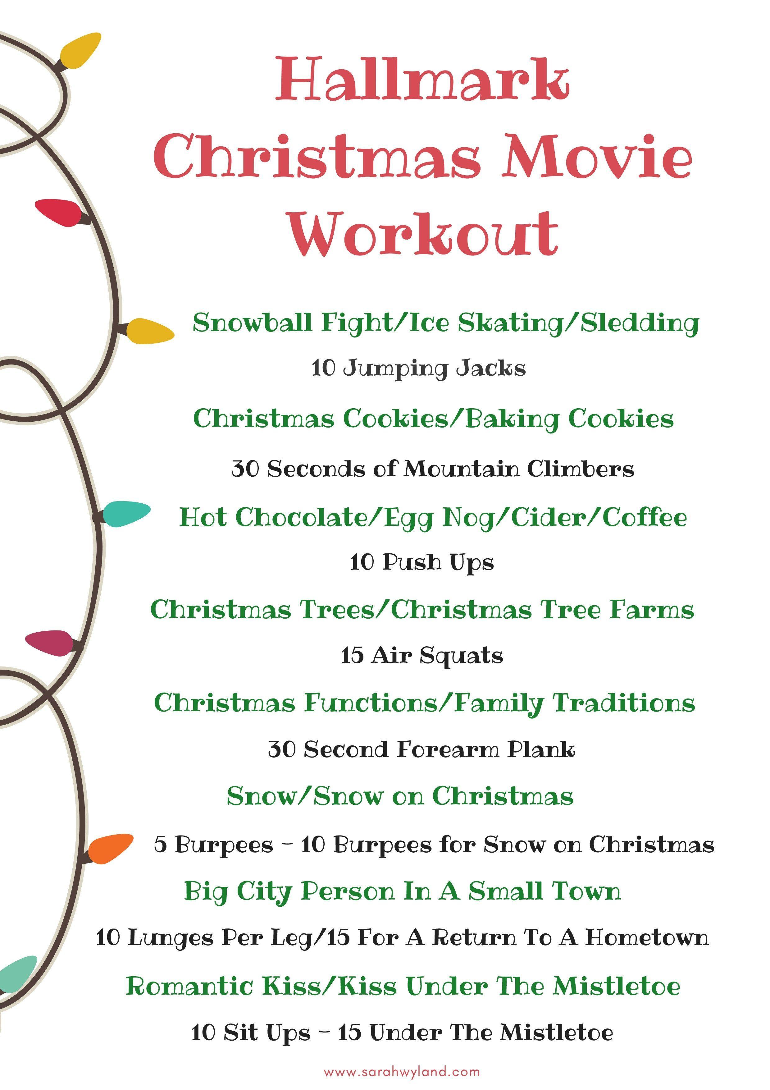 Hallmark Christmas Movie Workout #corecardioworkout | Stuff to buy ...