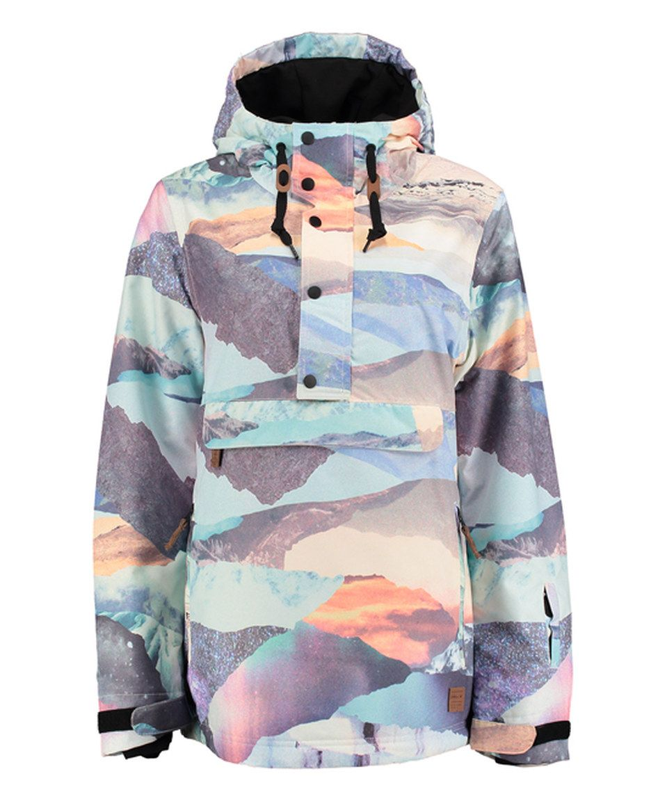 Loving This O Neill Blue Peach Crystal Hooded Ski Jacket On Zulily Zulilyfinds Ski Jacket Blue Peach Anorak