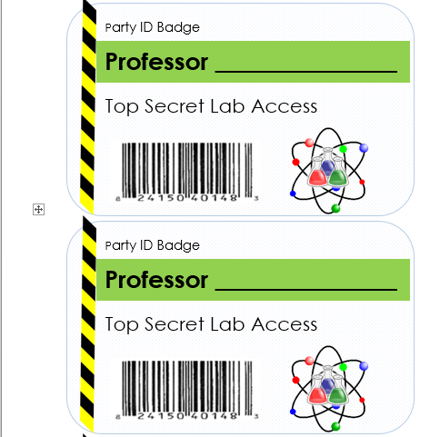 Downloadable Science Party Id Badges Science Birthday Party Mad Scientist Science Birthday Party Ideas Science Birthday Science Party