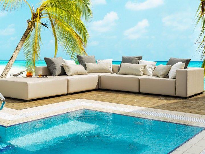 Lounge Kubik für den Garten 22-teilig Silvertex Livingruhm - lounge gartenmobel gunstig