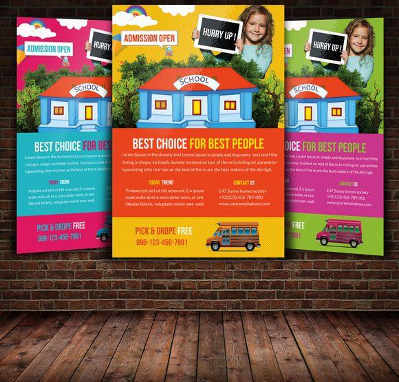 School Flyer Flyer template, Template and School - sample preschool brochure