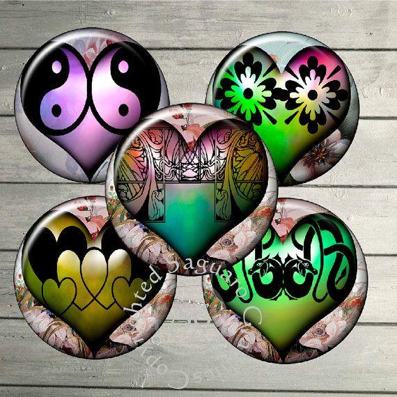Heart Deco Art  Digital Collage Sheets sg477  by SaguaroGraphics, $4.75