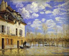Sisley, Alfred - Boat in the Flood at Port-Marly