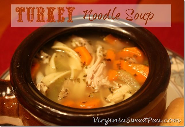 Turkey Noodle Soup step by step - Thanksgiving leftover soup & stock