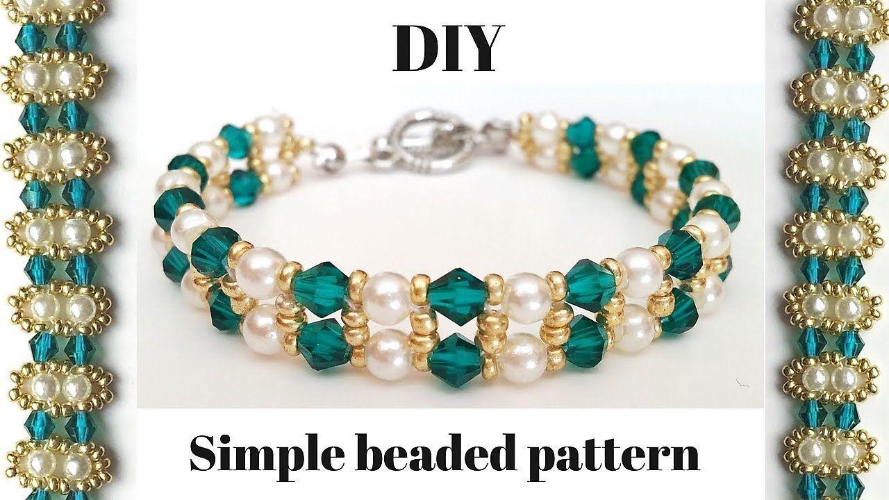 Elegant beaded bracelet diy jewelry making tutorial