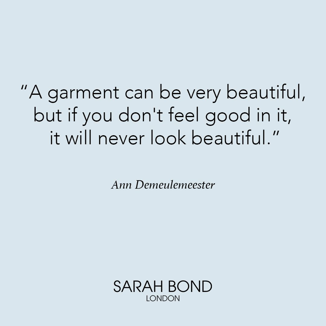 AnnDemeulemeester is giving us a shot of #wednesdaywisdom to keep us ...