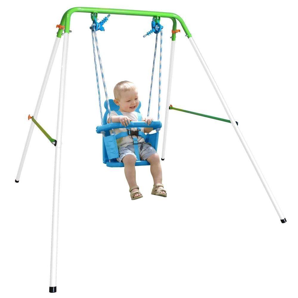 Toddler Swing Chair Small Kids Baby Patio Backyard Fun Folding