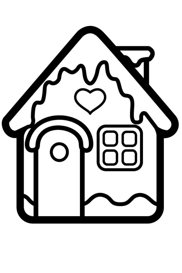 How To Draw A House For Christmas Christmas House Coloring Page For Kids Shopkins Colouring Pages Santa Coloring Pages Christmas Coloring Books