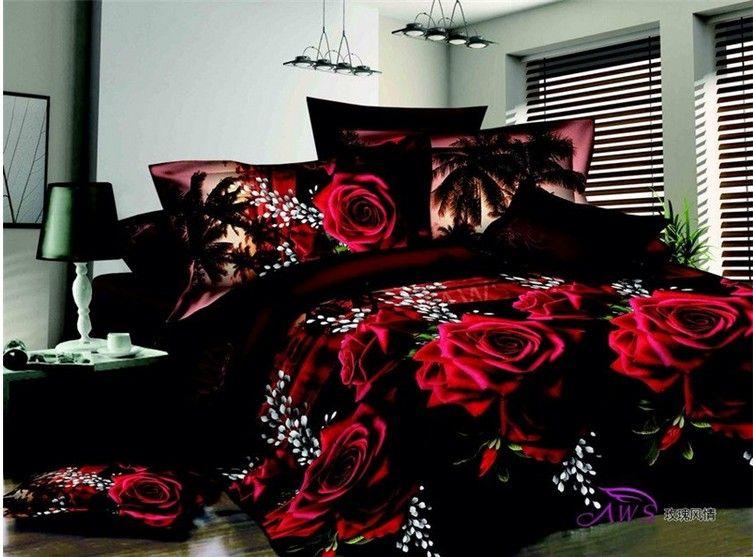 Queen Size Bed Quilt//Doona//Duvet Cover Set Pillow Cases Rose Marilyn Monroe