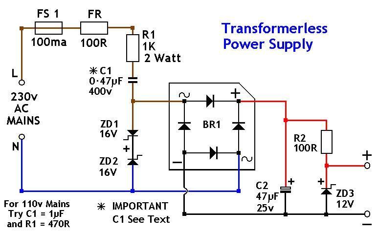 transformerless power supply 12v pinterest rh pinterest com