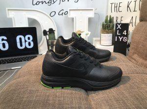 hot sale online 15ddf 168f1 Mens Nike Air Pegasus 30 Leather Triple Black Green Sneakers