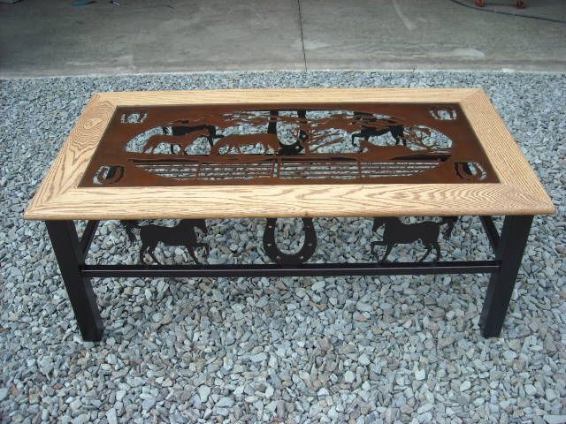 Horse Themed Coffee Table U2026
