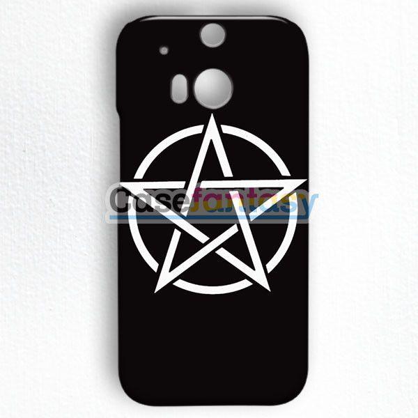 Pentagram Symbol Goth Metal Wiccan Magic HTC One M8 Case   casefantasy